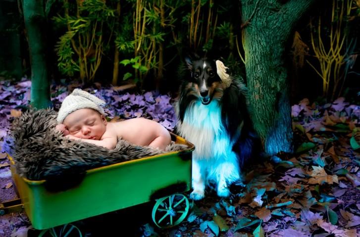 Lidi1 727x479 Lidi Lopez: Fotógrafa clica mamães, bebês e seus pets
