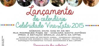 SP: Lançamento do calendário Celebridade Vira-lata 2015