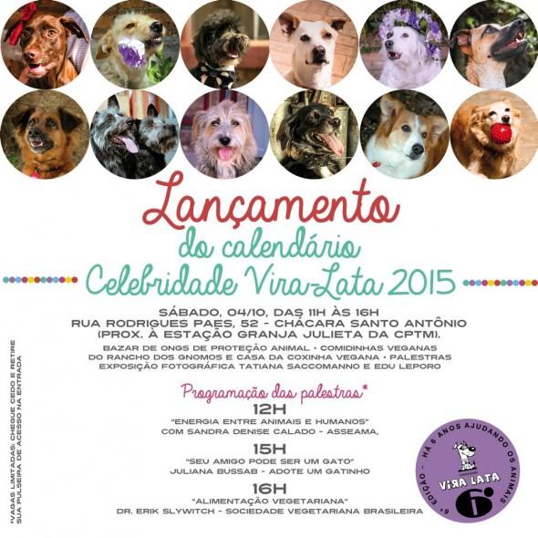 calend 590x590 SP: Lançamento do calendário Celebridade Vira lata 2015